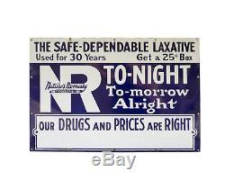 Vintage Original 1930's Porcelain Natures Remedy Drugs Sign
