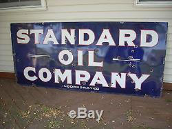 Vintage Original 1940's Standard Oil Company Porcelain Sign