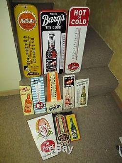 Vintage/Original DOUBLE COLA Soda Thermometer Metal Sign Dated 1940! VERY COOL