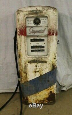 Vintage Original Erie 771 Atlantic Imperial Gas Pump Gas Station Garage Sign