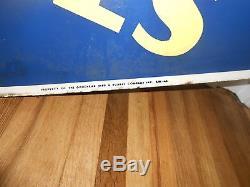 Vintage Original GOODYEAR TIRES Porcelain 48 Advertising SIGN GAS STATION OIL