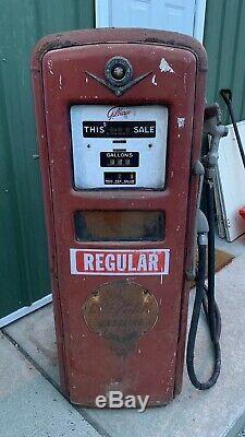 Vintage Original Gilbarco Gas Pump Chevron Garage Oil Car Truck Sign