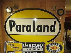 Vintage Oval Paraland Advertisement Sign 61 X 92