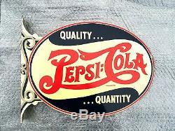Vintage Pepsi Cola Sign, Double Dot 1920 1930's Style Logo Rare