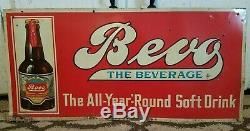 Vintage Rare Bevo Beverage Prohibition Anheuser Buch Advertising Sign