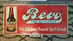 Vintage Rare Bevo Beverage Prohibition Anheuser Buch Advertising Sign