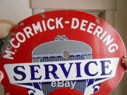Vintage Sign McCormick-Deering Service Double Sided Porcelain Orig