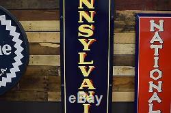 Vintage Sign Pennsylvania Tires Gas & Oil Station advertising NOS rare 1930's
