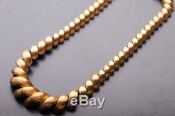 Vintage Signed $20,000 18k Yellow Gold 17 Necklace 103g SAN MARCO HEAVY