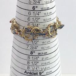 Vintage Signed KJL Kenneth Jay Lane Enamel Snake Serpent Link Bracelet