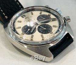 Vintage Signed Movado and Zenith Datron HS360 Paul Newman Panda Dial Wristwatch