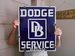 Vintage Signs Dodge Brothers D/B Service Double Sided Porcelain 22x17 1/2 Orig