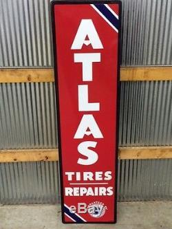 Vintage Standard Oil Atlas Porcelain Sign