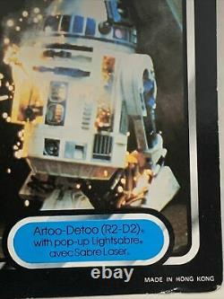 Vintage Star Wars Palitoy Trilogo Last 15/17 R2-D2 Pop Up MOC Unpunched Signed