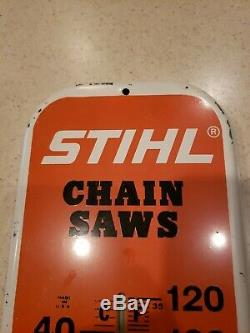 Vintage Stihl Chainsaw Advertising Thermometer Sign Made In USA
