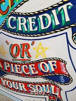 Vintage Style Hand Painted Sign Written Tattoo Fairground Circus cash desk till