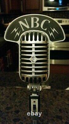 Vintage Style NBC Call Sign Flag Plate for Shure 55 55SW 55SH PE55 Microphone