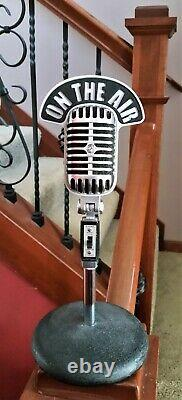 Vintage Style ON THE AIR Call Sign Flag for Shure 55 55SW 55SH PE55 Microphone