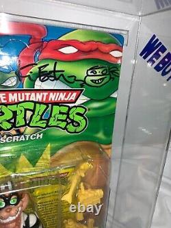 Vintage Teenage Mutant Ninja Turtles Scratch AFA 85 Signed Kevin Eastman Tmnt