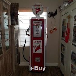 Vintage Texaco Gas Pump Refurbished Red
