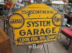 Vintage Transcontinental Look For The Lamps 36 x 28 Advertisement Sign