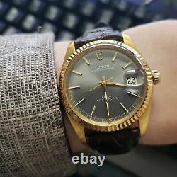 Vintage Tudor Prince Oyster Date with Rolex signed case