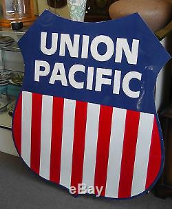 Vintage Union Pacific Porcelain Advertising Sign 45 x 40