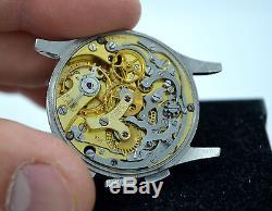 Vintage Universal Geneve Compax Türler Signed Steel Chronograph Cal. 285 Watch