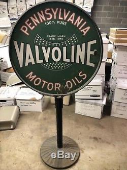 Vintage Valvoline Motor Oils Lollipop Advertising Sign