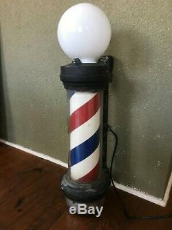 Vintage William Marvy Rotating Barber Pole # 66 Double Light Working Barber Pole
