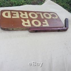 Vintage Wooden Segregation Sign Old And Rare