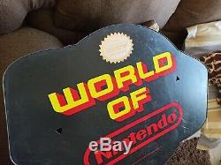 Vintage World of Nintendo Globe SIgn RARE AUTHENTIC