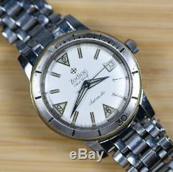 Vintage ZODIAC SEAWOLF Automatic Diver Date Watch with Original Signed JB Band