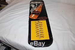 Vintage c. 1950 Nesbitt's Orange Soda Pop 23 Metal Thermometer SignWorks