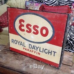 Vintage enamel esso sign