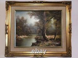 Vintage gilt framed original signed oil painting by artist I Cafieri