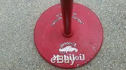 Vintage mobil gargoyle oil curb sign