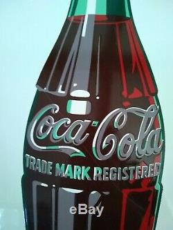 Vintage original Coca Cola white COKE 36 porcelain Button Soda Sign