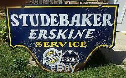 Vintage porcelain Studebaker Erskine Dealership sign
