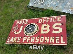 Vintage porcelain neon jobs sign steve jobs apple