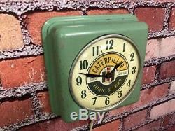 Vtg Ge Caterpillar-john Deere Old Tractor Farm Store Advertising Wall Clock Sign