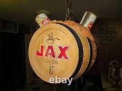 Vtg JAX Beer Spinning Motion Sign / Rotating Bar Light Clock New Orleans LA
