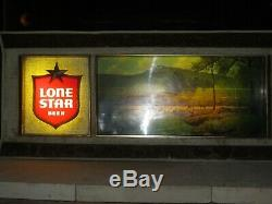 Vtg LONE STAR BEER Porfirio Salinas Panorama Motion Sign / Bar Light TEXAS ART