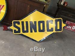 WOW! VinTagE Original DSP Porcelain SUNOCO Sign w ARROW Gas Oil OLD Sign STATION