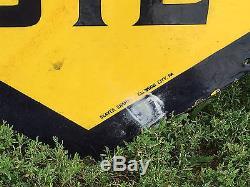 WOW! VinTagE Original SSP Porcelain SUNOCO Sign Gas Oil OLD Sign STATION Barn