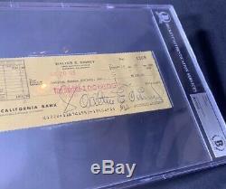 Walt Disney Signed Autograph Bank Check Signature Vintage Disneyland Beckett BAS
